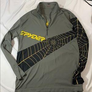 Men's Spyder Quarter Zip Long Sleeve Shirt
